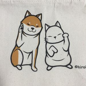 ミニトートバッグ招き柴猫