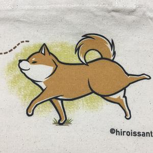 ミニトートバッグ 柴犬お散歩