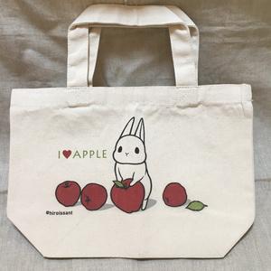 ミニトートバッグ うさぎりんご
