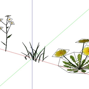 3D モデルデータ grass_flower_free
