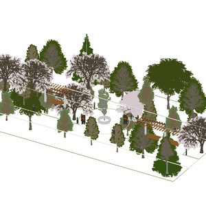 3D モデルデータ kouen_tree_set01