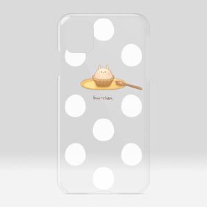 ぶーちゃんタルトのクリアケース(水玉)iPhone