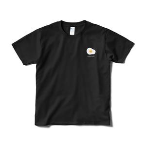 めだまやき ワンポイントTシャツ(ブラック)