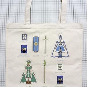 聖堂騎士長と大僧侶のトートバッグ