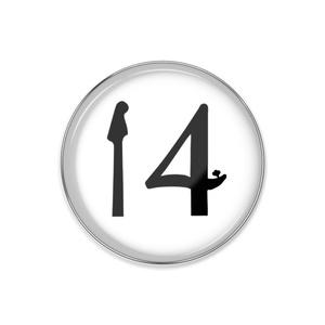 14【白】ピンバッチ
