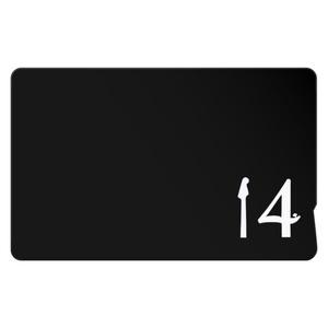 14【黒】ICカードステッカー