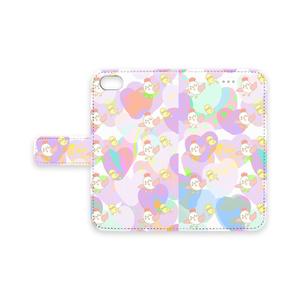 にわぴよ手帳型iPhoneケース iPhone7,6,5