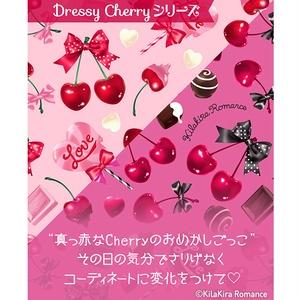 メッセージカード[Dressy Cherry No.03](ピンク×ダイヤ柄)