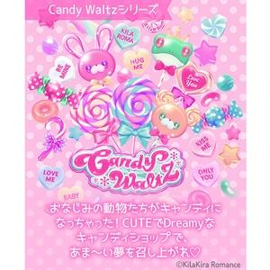 デザインペーパー[Candy Waltz No.1](ミント×キャンディハーツ)
