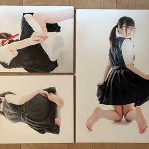 あのこの足裏写真展 展示パネル (三井 瞳)