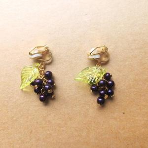 葡萄のプチイヤリング