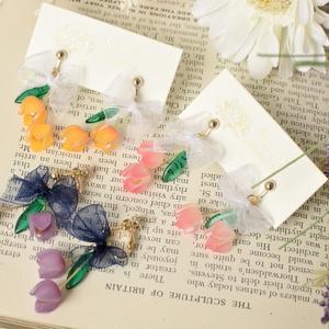 【オリジナル】Boeket. チューリップの花束耳飾り