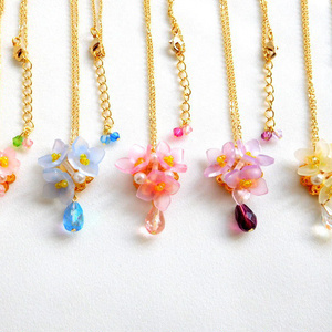 【オリジナル】花雫のネックレス