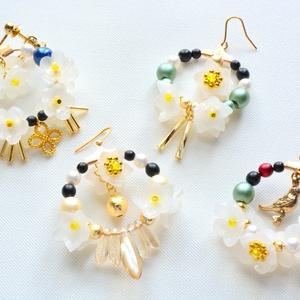 【刀剣乱舞】花紋の耳飾り