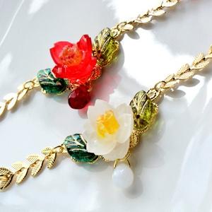 【オリジナル】椿の羽織紐
