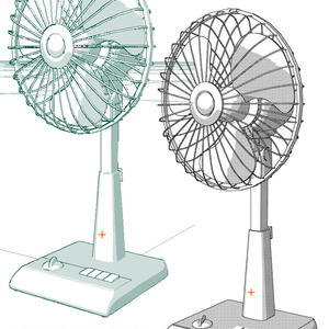 コミスタ3D素材『扇風機(無料版)』