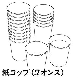【3D素材】紙コップ 7オンス