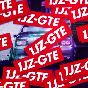 1JZ-GTE RED STICKER  - ステッカー / JDM USDM CHASER MARK2 CRESTA CROWN カスタム ドリフト