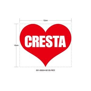 CRESTA HEART RED STICKER - クレスタ ハート レッド ステッカー / TOYOTA 豊田 トヨタ JZX100 JZX90 1JZ JDM ドリフト