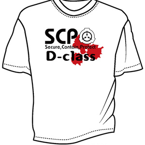 SCP DクラスTシャツ ホワイト