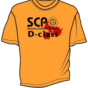 SCP DクラスTシャツ オレンジ