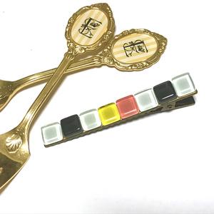 【鶴丸国永モチーフ】硝子タイルバレッタ