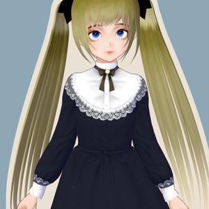 【VRoid】付け襟・付け袖セット