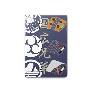 刀剣男士イメージ和菓子イラスト缶バッジ