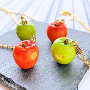 ポムフィオーレ寮 リンゴのネックレス
