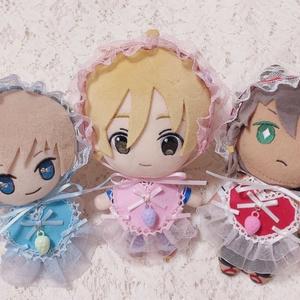いちごのヘッドドレスとハートエプロンの いちごのかわいい妖精さんセット(再販の為パーツ変更有)
