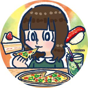 SNS用アイコンイラスト(キャラ1体+背景)