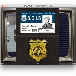 SALVATION|S.C.I.S.バッジ(レザー製/名刺入れ・カード入れ)