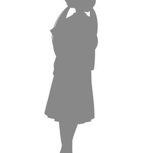 女性シルエット立ち絵素材 vol.1