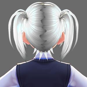 【VRoid用ヘアプリセット】ショートツインテール2