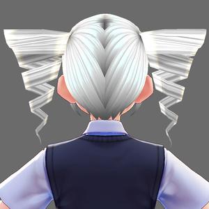 【VRoid用ヘアプリセット】ツインドリルセット