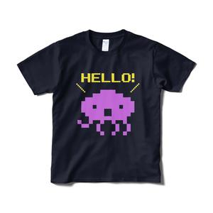 HELLO! Tシャツ ネイビー