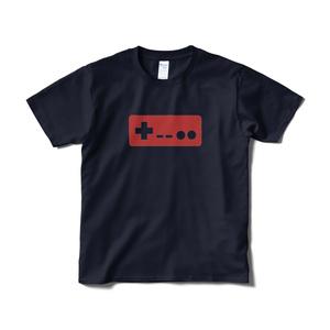 コントローラーTシャツ ネイビー赤