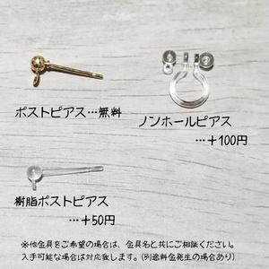 薬研藤四郎イメージピアス