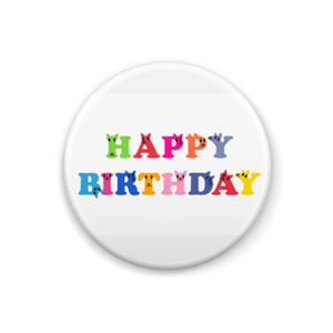 Happybirthday!!!バッジ