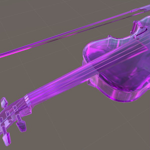 高(ポリゴン)級ヴァイオリン「バイオレットクリスタル」