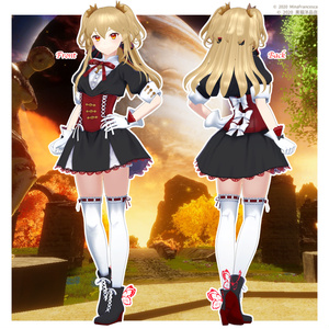 VRC向けアバター「アリア」Pandora×黒猫洋品店