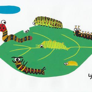 幼虫たちのトートバッグ