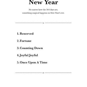 Saturday -New Year-