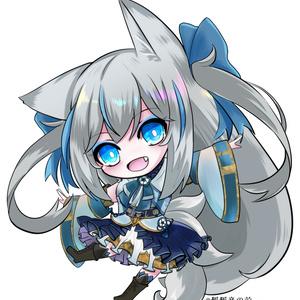 第二弾!狐狐音の前アクリルキーホルダー【ココはろVer】