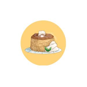 【缶バッジ】シフォンケーキ