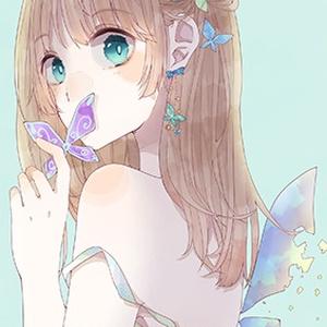 【ポストカード】蝶々女子