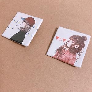 【缶バッジ】乙女の横顔缶バッジ