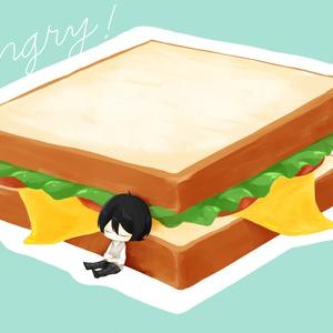 凛月とサンドイッチのステッカー