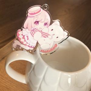 【新作】Drink me キーホルダー【ネネコ】