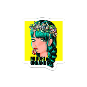MIDORINA ONNANOKO アクリルバッジ